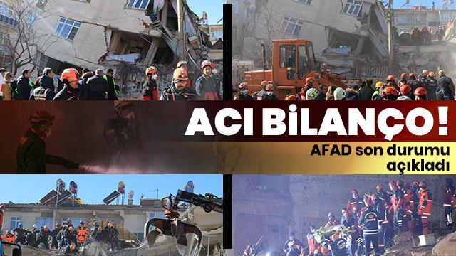 Elazığ'daki depremde 35 kişi hayatını kaybetti, 1.607 kişi yaralandı