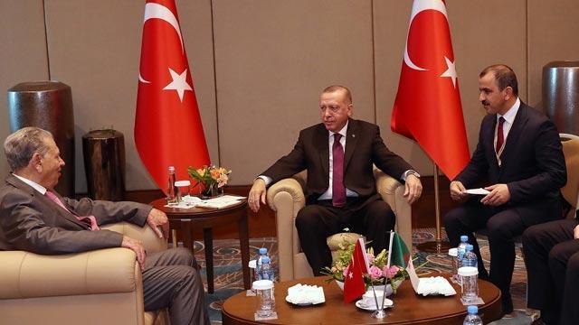 Başkan Erdoğan, Cezayir Millet Konseyi Başkanı Salah Goudjil'i kabul etti