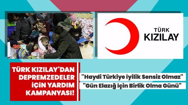 Türk Kızılay depremzedeler için başlattı