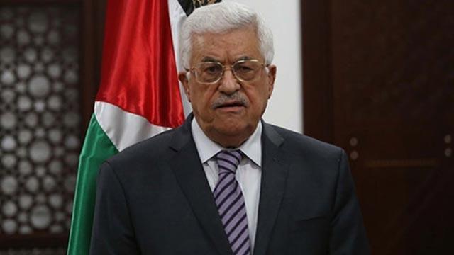 Filistin Devlet Başkanı Abbas'tan, Başkan Erdoğan'a taziye mesajı