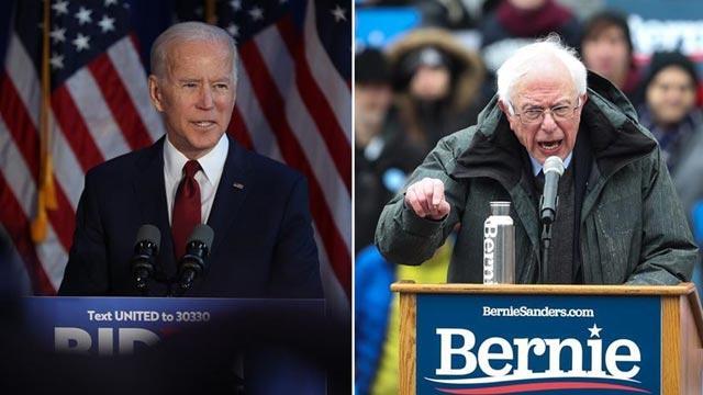 ABD'deki 2020 başkanlık seçimleri için Demokrat adaylar Biden ve Sanders anketlerde yarışı önde götürüyor