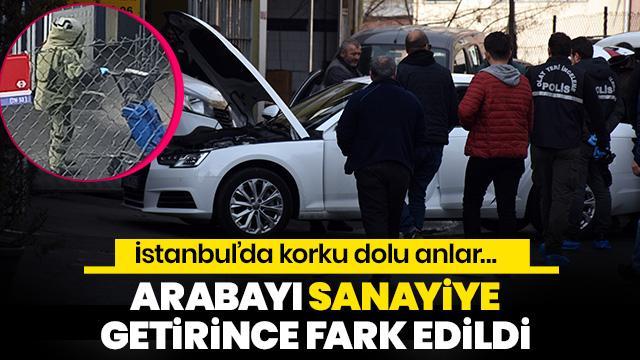 İstanbul'da korku dolu anlar! İş insanının aracından çıkan kutu bomba paniğine neden oldu
