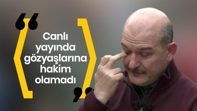İçişleri Bakanı Soylu depremde o anları anlatırken gözyaşlarına hakim olamadı