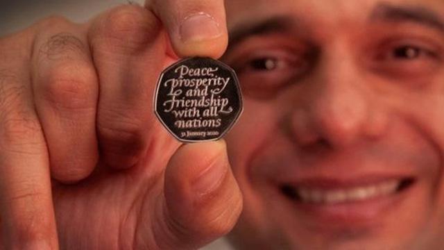 İngiltere, AB'den çıkış tarihi olan 31 Ocak 2020'ye özel madeni para bastırdı