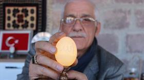 """""""Tavuk yumurtası üzerindeki en fazla delik"""" rekorunu 11 bin 827 delikle egale etti"""