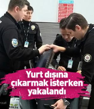 """İstanbul Havalimanı'nda operasyon! """"Saka""""ları yurt dışına çıkarmak isterken yakalandı"""