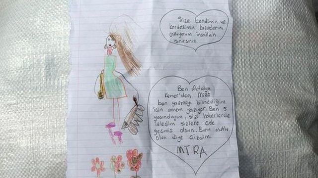 Depremzedelere kazak gönderen 5 yaşındaki Mira'dan duygusal mektup