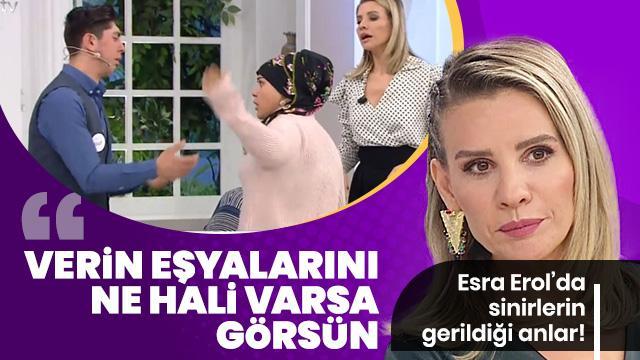 Esra Erol, kocasını bırakıp başkasına kaçan kadının ailesine seslendi: Eşyalarını verin gitsin