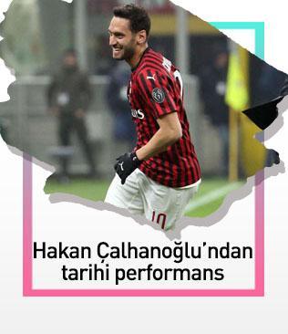Hakan Çalhanoğlu yıldızlaştı, Milan kupada yarı finale yükseldi