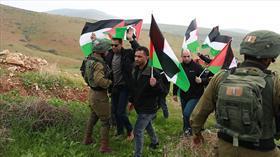 Filistinliler Batı Şeria'da Trump'ın sözde barış planını protesto etti: 3 yaralı