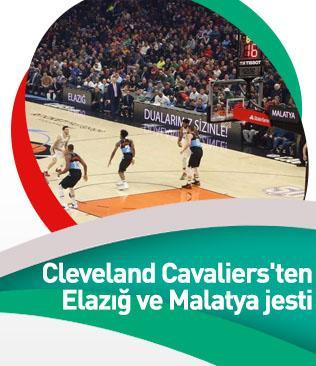 Cedi Osman'ın takımı Cleveland Cavaliers'ten Elazığ ve Malatya jesti