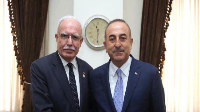 Dışişleri Bakanı Çavuşoğlu, Filistinli mevkidaşı ile görüştü