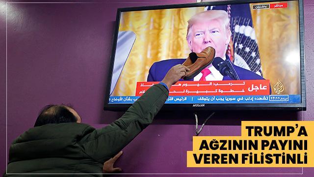 Trump'ın sözde Orta Doğu barış planını diyen vatandaşlar böyle tepki gösterdi