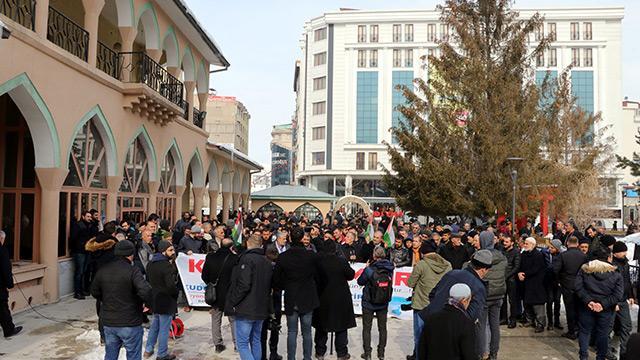 Van ve Muş'ta ABD'nin sözde Ortadoğu Barış Planı protesto edildi