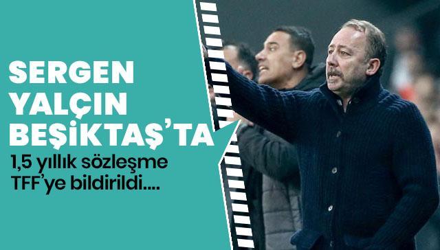 Beşiktaş Sergen Yalçın'ı resmen açıkladı! 1,5 yıllık anlaşma...