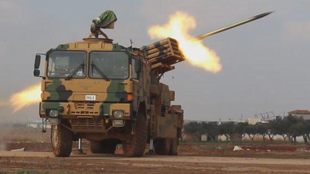 TSK çok namlulu roketatarla vurdu! Çok sayıda rejim unsuru etkisiz hale getirildi