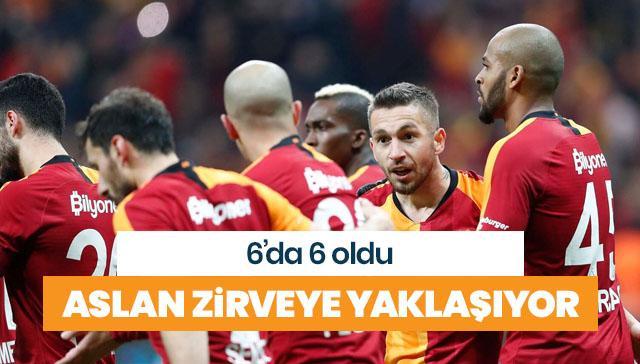 Galatasaray emin adımlarla yoluna devam ediyor
