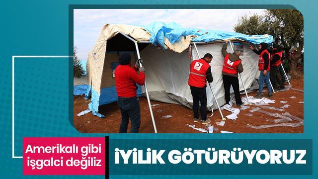 Türk Kızılay'dan İdlib'deki çatışmalardan kaçanlara yardım eli
