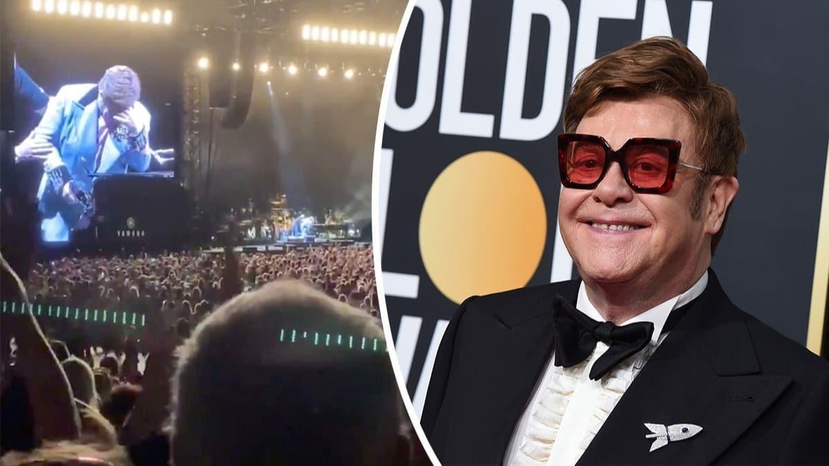 Son turnesini yapan Elton John gözyaşları içinde sahneyi terk etti