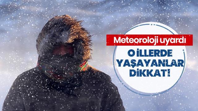 Meteoroloji'den yoğun kar uyarısı geldi