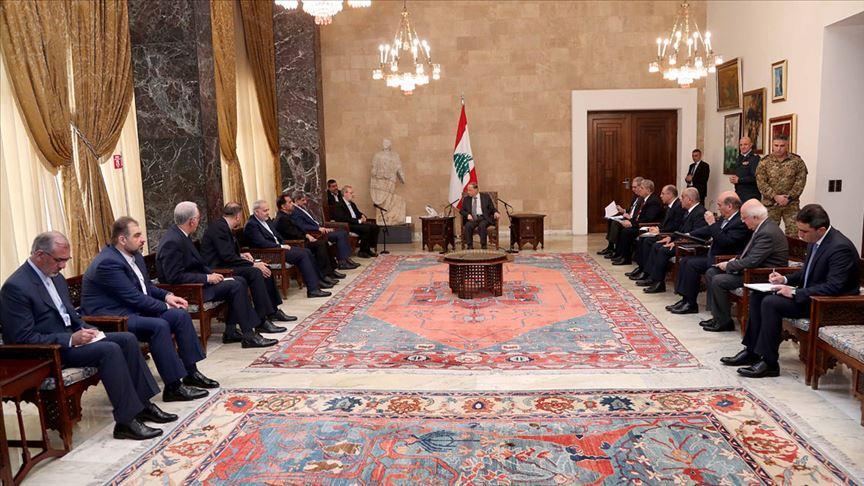 Lübnan Cumhurbaşkanı, İranlı yetkililerle bölgesel gelişmeleri görüştü