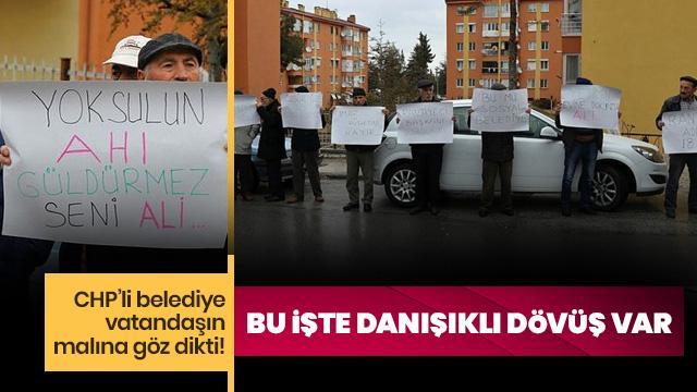 CHP'li belediye mallarına el koydu!