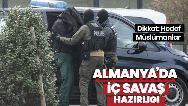 Almanya'da Müslümanları vurarak iç savaş çıkaracaklar
