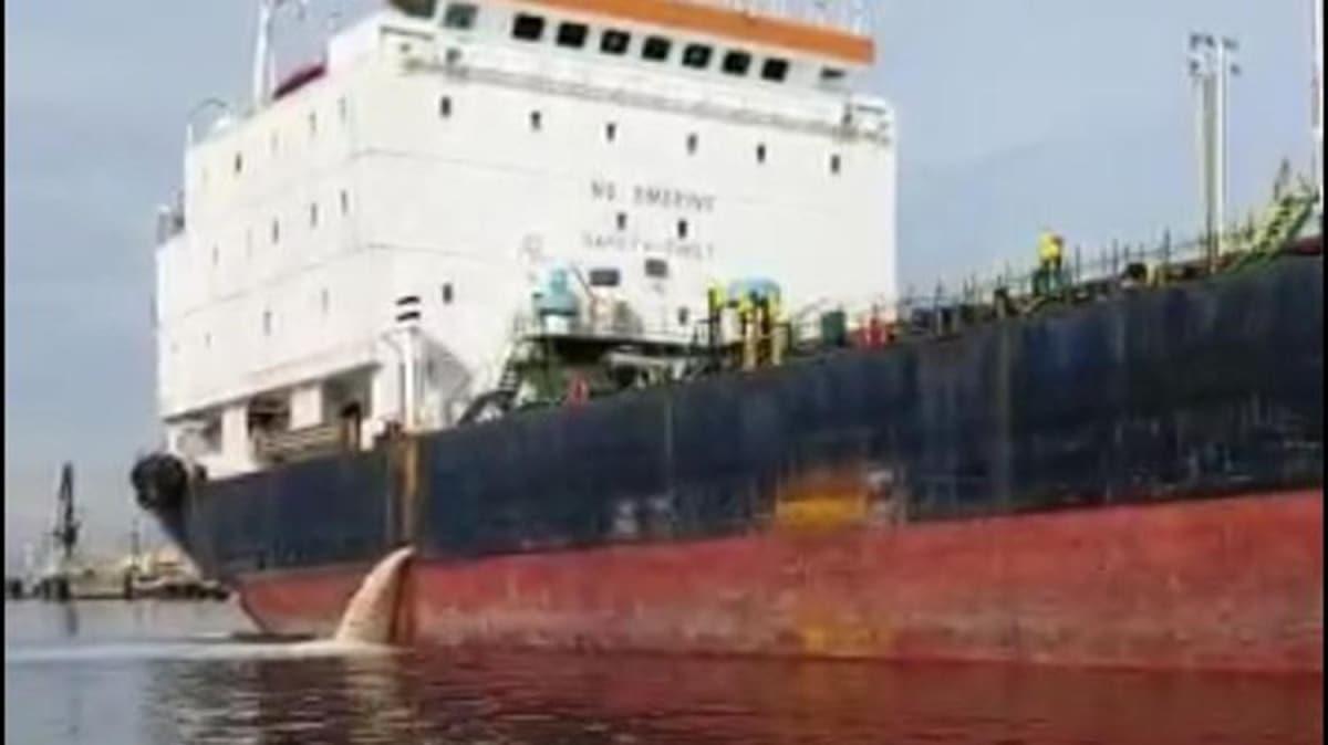 İzmit Körfezi'ni kirleten gemiye 635 bin TL ceza