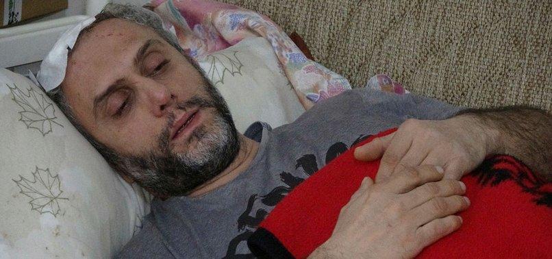 İstanbul'da şoke eden olay! Kafasına beton parçası düştü, ölümden döndü