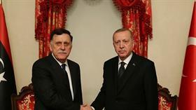 Başkan Erdoğan, Libya UMH Başkanlık Konseyi Başkanı Sarraj'ı kabul etti