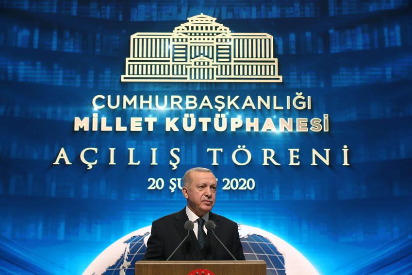 Başkan Erdoğan, Cumhurbaşkanlığı Külliyesi'nde Millet Kütüphanesi Açılışını yaptı