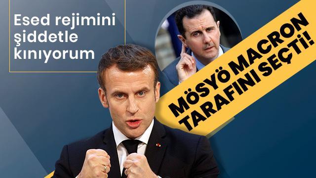 Macron'dan Esed'a kınama