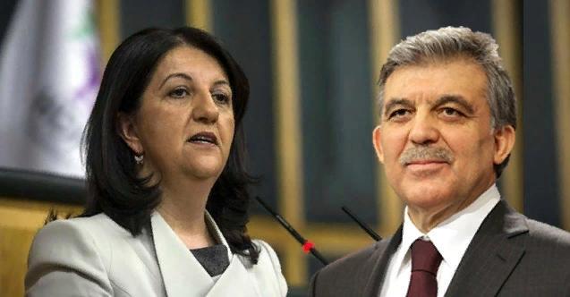 Kavga var! HDPKK'lı Pervin Buldan Abdullah Gül'e korkak dedi