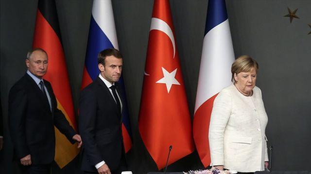 Merkel ve Macron'dan Putin'e, İdlib'de çatışmaların son bulması çağrısı