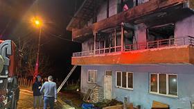 Amasra'da, evde çıkan yangında babaanne ile 2 torunu öldü