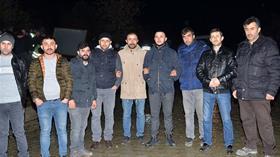 Kastamonu'da maden işçileri işten çıkarılan arkadaşlarına destek amacıyla greve başladı