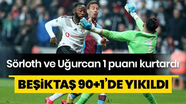 Beşiktaş 90+1'de yıkıldı