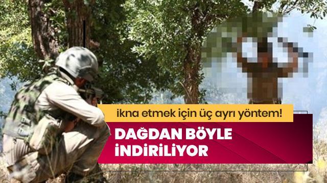 PKK'lılar dağdan böyle indiriliyor