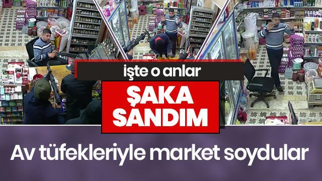 """Korkutan market soygunu! """"Şaka sandım"""""""