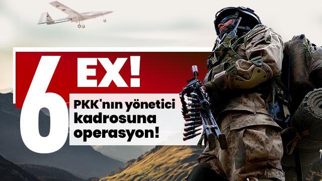 PKK'nın yönetici kadrosuna operasyon! Etkisiz hale getirildiler