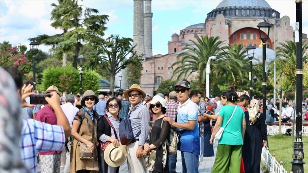 Yılın ilk ayında Türkiye'yi 1 milyon 787 bin 435 yabancı ziyaret etti