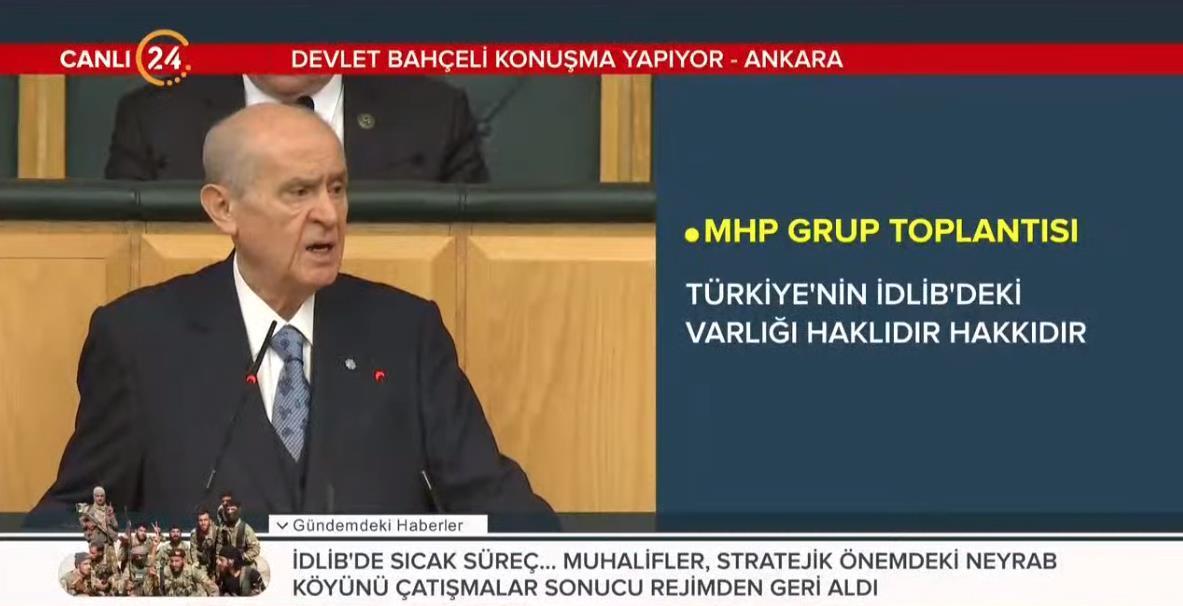 Bahçeli'den MHP Grup Toplantısında önemli açıklamalar:  Hiç kimse bize parmak sallamaya kalkmamalıdır
