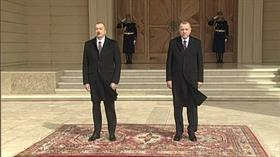 Başkan Erdoğan Azerbaycan'da, resmi törenle karşılandı