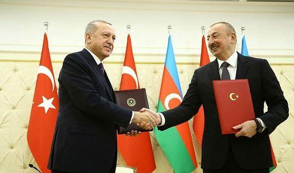 Başkan Erdoğan ile Aliyev'den Azerbaycan'da ortak açıklama