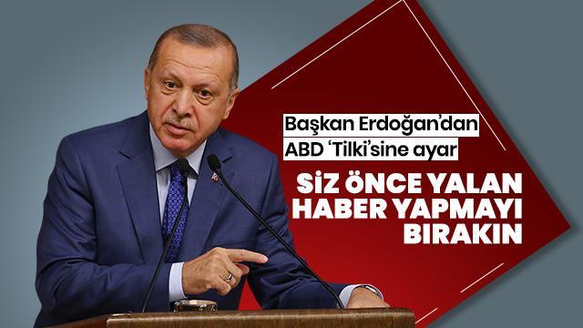 Erdoğan'dan Fox muhabirine ayar