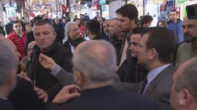 İBB Başkanı Ekrem İmamoğlu, Kapalıçarşı'da sıkıştırıldı