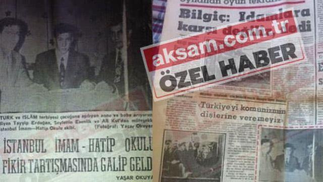 1972'te Başkan Erdoğan hakkında yazılı basında çıkan ilk haber