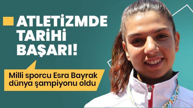 Özel sporcu Esra Bayrak 60 metrede dünya şampiyonu oldu