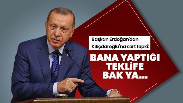 Başkan Erdoğan'dan Kılıçdaroğlu'na Esed tepkisi