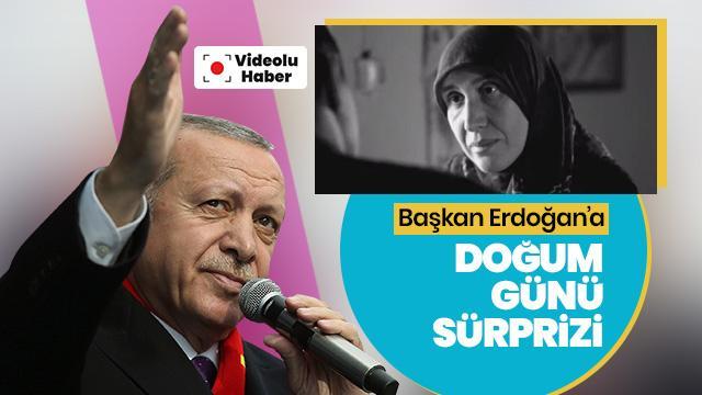 Başkan Erdoğan'a doğum günü sürprizi